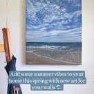 Add some summer vibes to your home this spring with new art for your walls 🌊