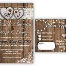 Fall Wedding Invitations Bridal Shower Country Rustic Wedding   Etsy