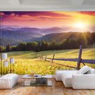 VLIES Fototapete Wald XXL Tapeten Wandtapete Schlafzimmer Wohnzimmer Berge Natur  | eBay