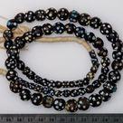 Venetian Black Eye Beads - a 30