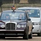 Great Britain   Queen Eliabeth rides in Bentley State Limousine 2002.