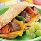 Grilled Philly Cheesesteak Kabob Sandwiches