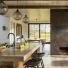 Fireplace| Kitchen Island | Interior Design