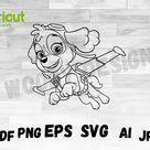 Skye OUTLINE Paw patrol SVG Skye SVG Paw patrol Outline | Etsy