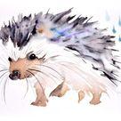 Violet hedgehog (2014) Painting by Tina Brosi