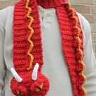 Crochet Dragon Scarf Pattern. Easy Instructions for Cool Winter Neckwear. Unique Scarf Puppet Makes Perfect Gift for Kids & Adult (PDF File)