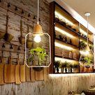 Zox - Modern Nordic Iron Pendant Planter Lamp