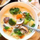 Thai-Kokos-Suppe mit Gemüse (nur 30 Minuten!) - Kochkarussell