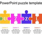Colorful PowerPoint Puzzle Pieces Template