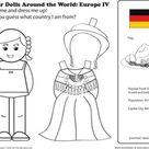 German Paper Doll   Worksheet   Education.com