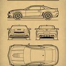 Chevrolet Camaro Gen 5 Patent Print  Auto ArtChevrolet   Etsy