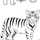 T is for Tiger coloring page | Free Printable Coloring Pages