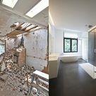 Luxury modern bathroom Stock Photo
