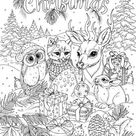 Merry Christmas  Printable Adult Coloring Page from Favoreads | Etsy