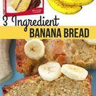 Easy 3 Ingredient Moist Banana Bread