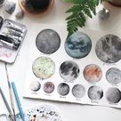 Artist Captures the Magic of the Cosmos in Visually Textured Watercolor Paintings