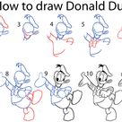 How to Draw Donald Duck (Step by Step Pictures)
