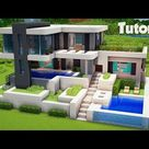 Minecraft: How To Build A Large Modern House Tutorial (Easy)
