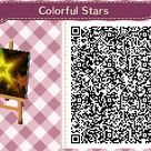 Colorful Stars Animal Crossing:New Leaf QR code. Requested by Aurora@Eragon