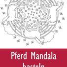 Pferde Mandala » PDF zum Ausdrucken