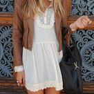 Cream Lace Dresses