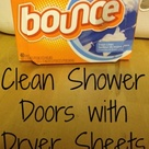 Clean Shower Doors