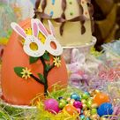 Box Canvas Print. Australia. Easter display of large decorated