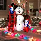 Cute Snowman and Penguins Inflatable