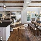 Rustic Farmhouse Meets Modern Chic: Rooms We'd Copy Right Now — firefly+finch