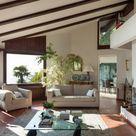 Wohnzimmer Mit Terracotta Fliesen