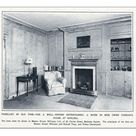 Photograph. Room in Gwen Farrars Chelsea home panelled in pine