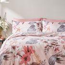Bianca Pink Leilani Duvet Cover and Pillowcase Set -  Pink