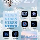 Blue iOS 14 App Icon Pack   Neon Aesthetic iOS 14 Icons   iPhone Icon Pack Neon   71 Pack App Icons