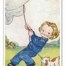 30cm Photo. WW2 era - Comic Postcard - A Mans Job