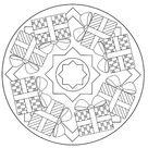Kleurplaat van Kerstmis Mandala cadeautjes