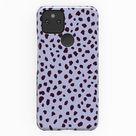 DALMATIAN PHONE CASE - Google Pixel Shell Phone Cover - Animal Print Polka Dot - Gloss & Matte Case for Google Pixel 5G, 4A, 4XL, 3A - Lilac