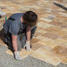 Anleitung: Terrassenplatten auf Splitt verlegen