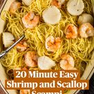 20 Minute Easy Shrimp and Scallop Scampi