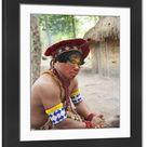 Large Framed Photo. Brazil, Bahia, Porto Seguro, Pataxo
