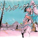 JoJo's Bizarre Adventure Rohan goes to the Louvre art by Hirohiko Araki