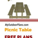 Picnic Table with Detached Benches Plans | MyOutdoorPlans | Free Woodworking Plans and Projects, DIY Shed, Wooden Playhouse, Pergola, Bbq
