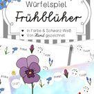 Würfelspiel Frühblüher   DaZ/DaF   in Farbe & SW