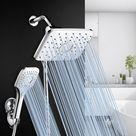 SPA Bathroom Shower Set Rain Shower Head Bath Shower with Hand Shower Faucets Rainfall Showers