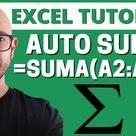 AUTOSUMA Cómo SUMAR en EXCEL AUTOMATICAMENTE TRUCOS BASICOS Y AVANZADOS? FUNCION AUTOSUMA EXCEL?