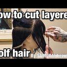 How to cut wolf-hair /haircut Tutorial by SAMURAI beautician