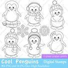Penguin Digital Stamps