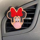 Mouse Bow Holographic Bubble Gum FELTIE Vehicle Air Conditioner Vent Clip / Desktop Fan / Room Fan Bling Accessory