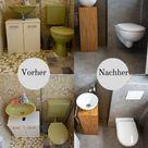 Gäste WC neu gestalten - Vinylboden an Wände kleben