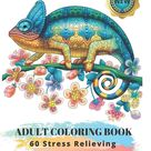 Adult Coloring Book : 60 Stress Relieving Animals Designs: A Lot of Relaxing and Beautiful Scenes for Adults or Kids - Paperback