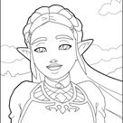 Zelda: breath of the wild coloring pages - Hellokids.com